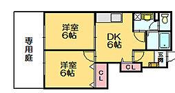 シャトーポルト2[1階]の間取り