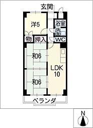 アベニュー大井[7階]の間取り