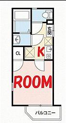 神奈川県横浜市保土ケ谷区星川3丁目の賃貸アパートの間取り