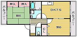 ハイツフリーデン[2階]の間取り