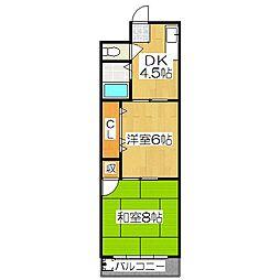 八文字屋ビル[3階]の間取り