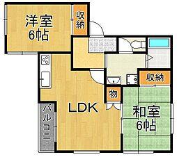 アベニュー武庫之荘[1階]の間取り