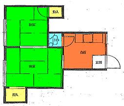 第五清友荘[2階]の間取り