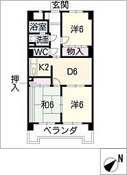 クレセントマンションK[3階]の間取り