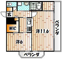 アイランドコート戸畑[5階]の間取り