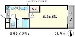 京都府京都市北区平野上柳町の賃貸マンションの間取り