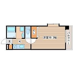 サンパティーク小松島3階Fの間取り画像