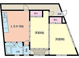 [一戸建] 神奈川県横浜市南区中里4丁目 の賃貸【/】の間取り