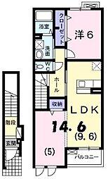 アン ソレイユ[2階]の間取り