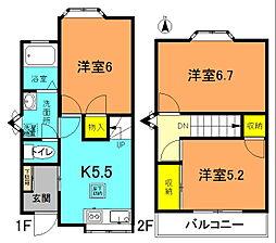 [テラスハウス] 神奈川県平塚市御殿4丁目 の賃貸【神奈川県 / 平塚市】の間取り