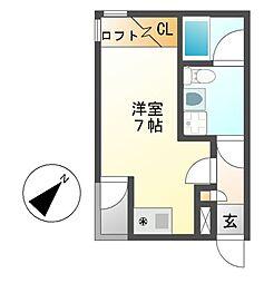 ノヴェル桜山[2階]の間取り