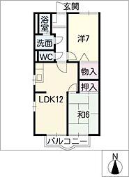 セントラル羽根井 A棟[2階]の間取り