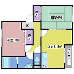 サンガーデン浄泉[1階]の間取り