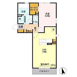 千葉県君津市北子安3の賃貸アパートの間取り
