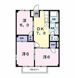 三重県鈴鹿市西条2丁目の賃貸アパートの間取り