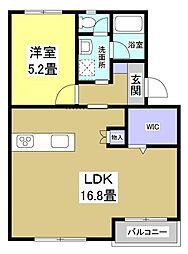 メゾン横須賀II[205号室]の間取り