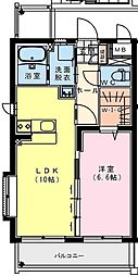 (仮称)出北・3丁目佐藤マンション 2階1LDKの間取り