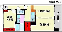 KDX清水レジデンス[218号室]の間取り
