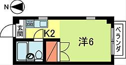 エスティー・和田[2階]の間取り