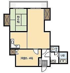 バンベールハウスA棟[305号室]の間取り