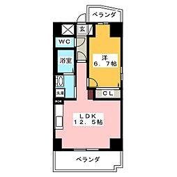 ハ−トヒルズ井田[8階]の間取り
