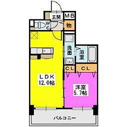 プレジデント正弥久留米駅[1階]の間取り