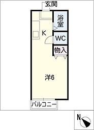 シャトレー近藤A[1階]の間取り