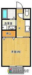 エスポワールK[2階]の間取り
