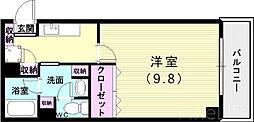 神戸市西神・山手線 伊川谷駅 徒歩5分の賃貸マンション 3階1Kの間取り