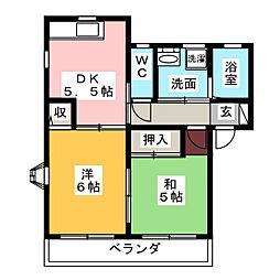 ファミリーハイツ[2階]の間取り