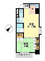 レジデンシア鶴舞(旧サンコート鶴舞[2階]の間取り
