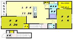 フラワービューSK[2階]の間取り