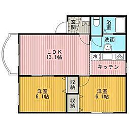 北海道江別市一番町の賃貸マンションの間取り