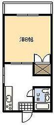 アーバンハイツII[206号室]の間取り