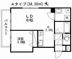 新潟県新潟市中央区東大通2丁目の賃貸マンションの間取り