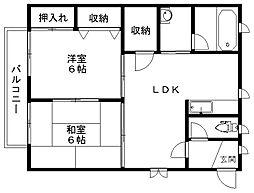メヌエットSAKAI[2階]の間取り