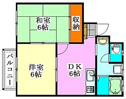 イーストヒルズパートII[2階]の間取り