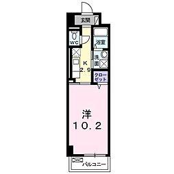 パークレーン香春口[2階]の間取り