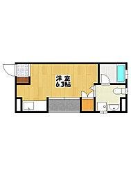 千葉県船橋市本中山2丁目の賃貸マンションの間取り
