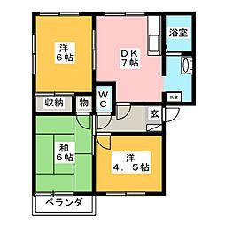 サンコーポNo.2[2階]の間取り