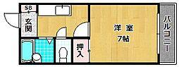 コンフォート長尾[2階]の間取り