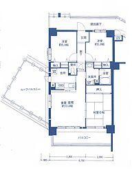 メゾンドール香里園[2階]の間取り