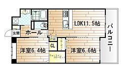 ベルステージ須賀町[4階]の間取り