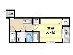 Osaka Metro今里筋線 瑞光四丁目駅 徒歩9分の賃貸アパート 1階1Kの間取り