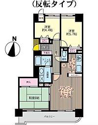 ロイヤルヒルズ東戸塚(ロイヤルヒルズヒガシトツカ)[7階]の間取り