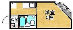 大阪府枚方市牧野本町1丁目の賃貸マンションの間取り