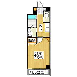 プラリア京都竹田マンション[1階]の間取り