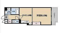 O.G.S FUKUSHIMA[6階]の間取り