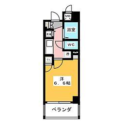 パルティール鶴舞[6階]の間取り