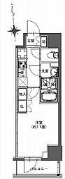 都営新宿線 馬喰横山駅 徒歩9分の賃貸マンション 11階1Kの間取り